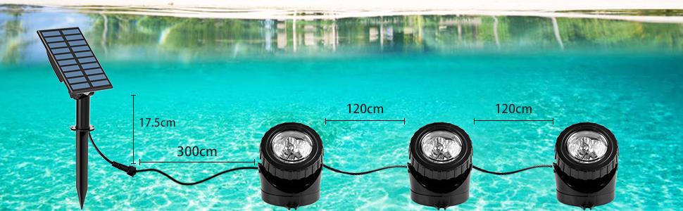 soalr pond light detail