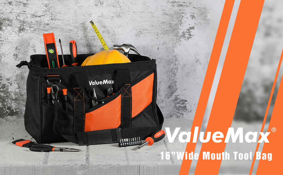 ValueMax 16-Inch Wide Mouth Tool Bag