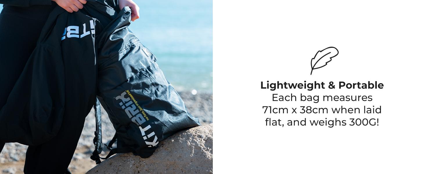 KitBrix Pokit Hiking Daypack Foldable Waterproof Backpack Rucksack 25 litres