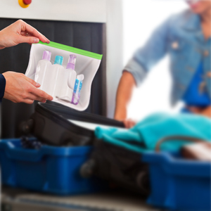 reusable plastic bags for travel items
