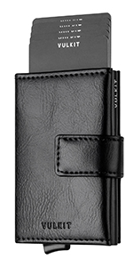 leather card wallet with magnetic closure
