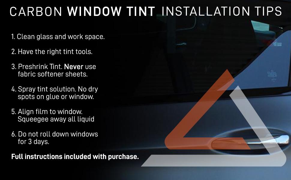 carbon window tint installation tips