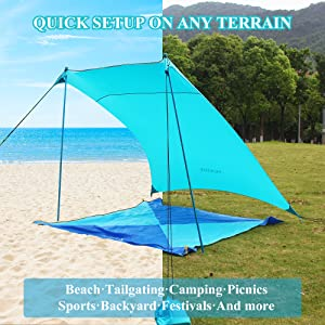 sand tent beach canopy with pockets neso sun shade cabana shibumi awning ninja sandbags