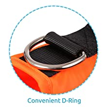 Convenient to link a leash to your pet