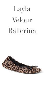 Layla Velour Ballerina