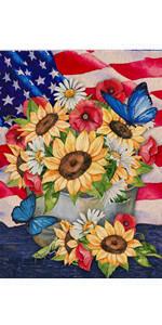 Home Decorative Summer Sunflower Daisy Garden Flag