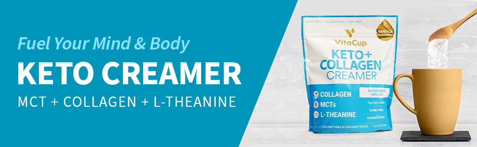 Keto Collagen Non-Dairy Creamer with MCT Oil and L-Theanine