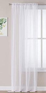 Faux Linen Sheer Curtains