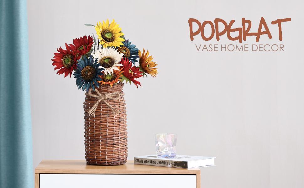 popgrat wicker vase