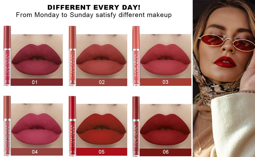 6Pcs Matte Lipstick