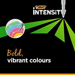 BIC Intensity Felt Pens have Bold, Vibrant Colours for Adult Colouring & Journal