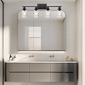 black vanity light