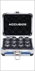 Accusize Metric ER20 Collet 2mm to 13 mm by 1 mm 12 Piece Set 3350-0583