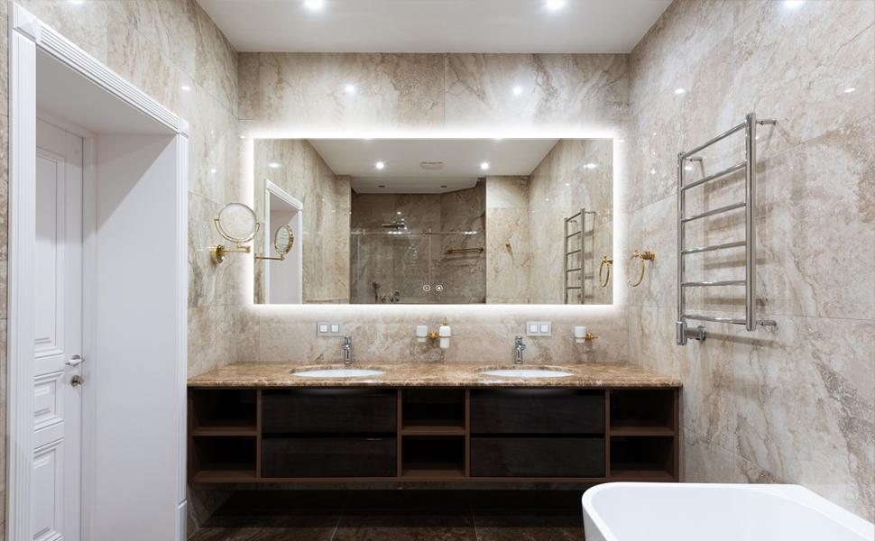 60x28 inch led bathroom mirror