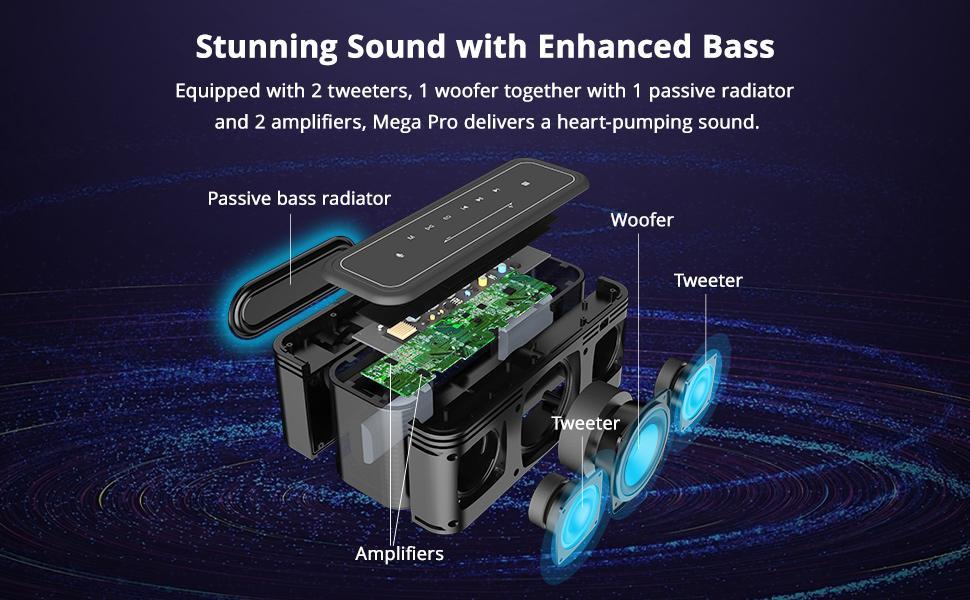 Stunning Sound with Enhanced Bass