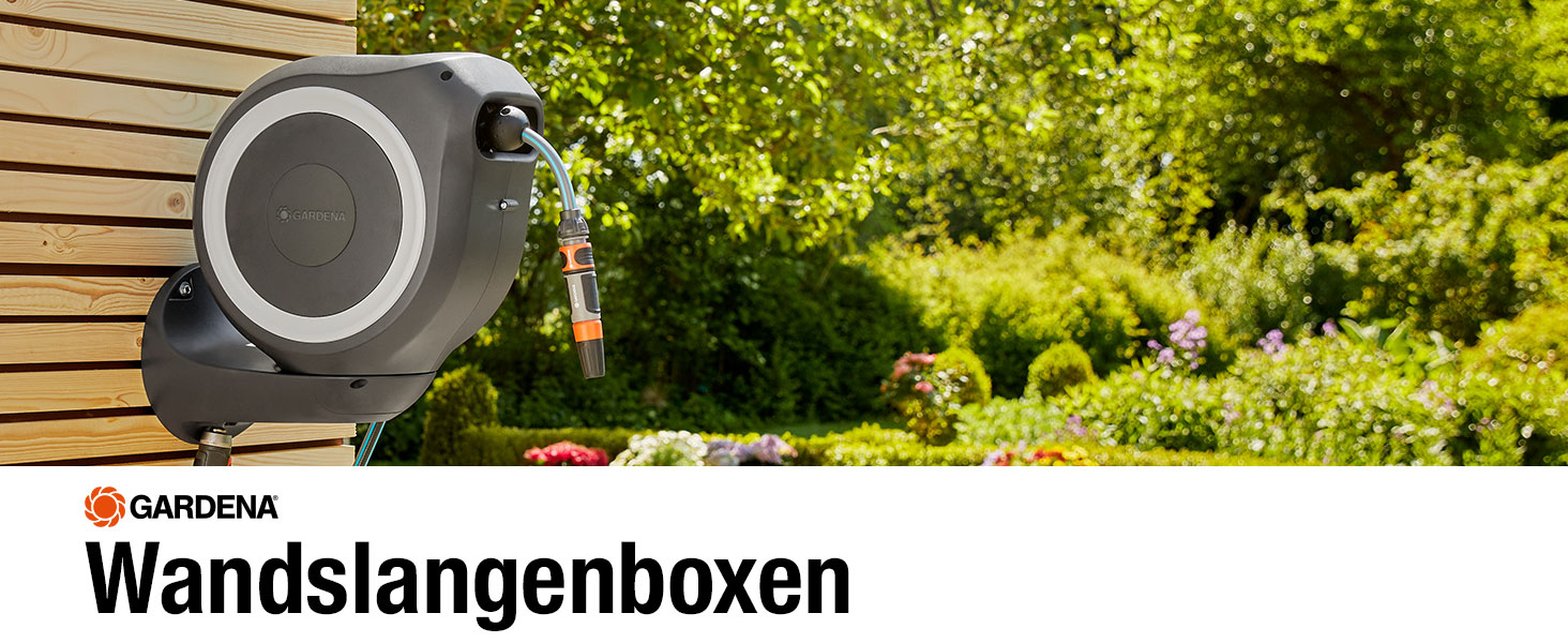 Wandslangenboxen, Gardena, oproltechnologie, tuin, RollControl