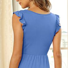 womens ruffle sleeve dress for women ruffle maxi dress for women