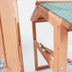Chicken Coop, Wooden Waterproof Rabbit Hutch Indooramp;amp; Outdoor, Easy-clean Pet house