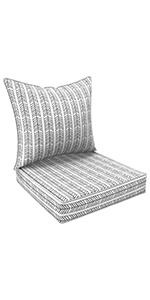 LVTXIII Outdoor Deep Seat Cushions, All Weather Deep Seat Chair Cushion Set for Patio Decor