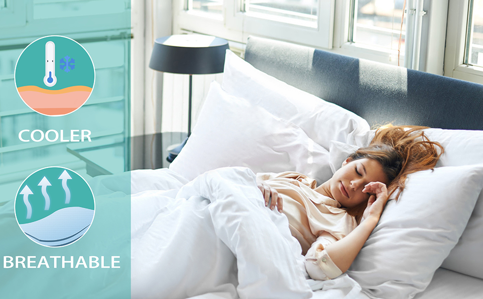 100% Bamboo Sheets Cooling Sheets Bed Sheets soft Breathable Fitted Sheet Flat Sheet Pillowcase