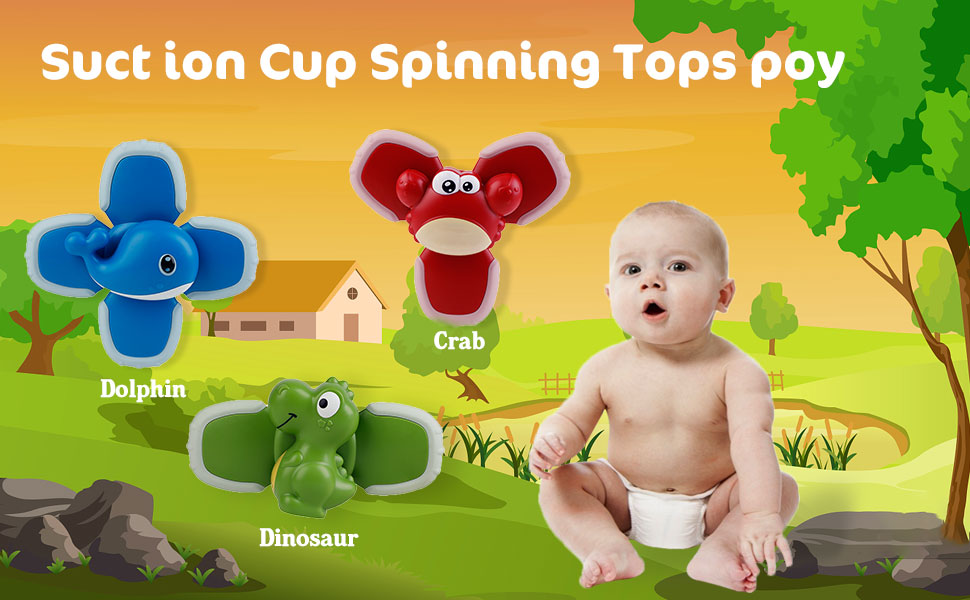Suction Cup Spinning Top Toy
