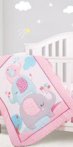 elephant crib beding sets