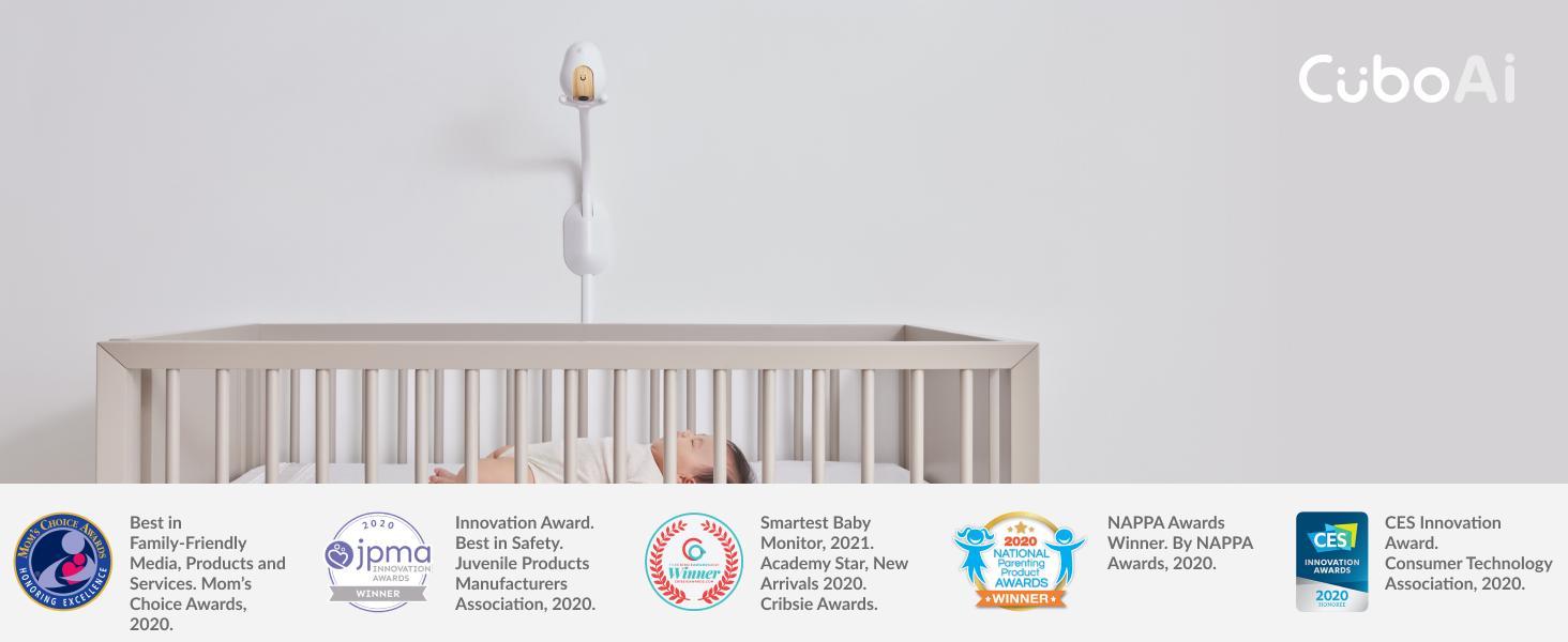 Cubo Ai Smart Baby Monitor Wall Mount