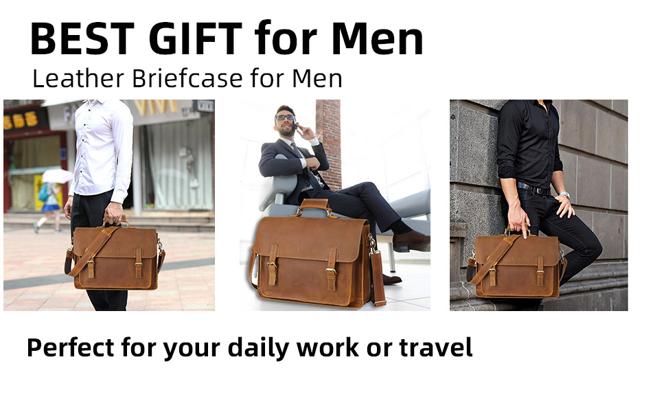 genuine leather briefcase perfect for your daily work or travel