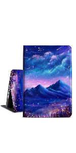 Starry Sky and Mountains ipad case