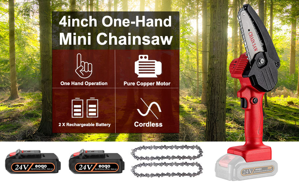 Mini Chain Saw Battery Powered Spare Chain