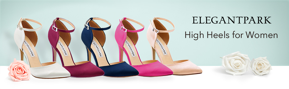 heels for women pumps wedding shoes for bride ankle strap high heels evening party dress shoes