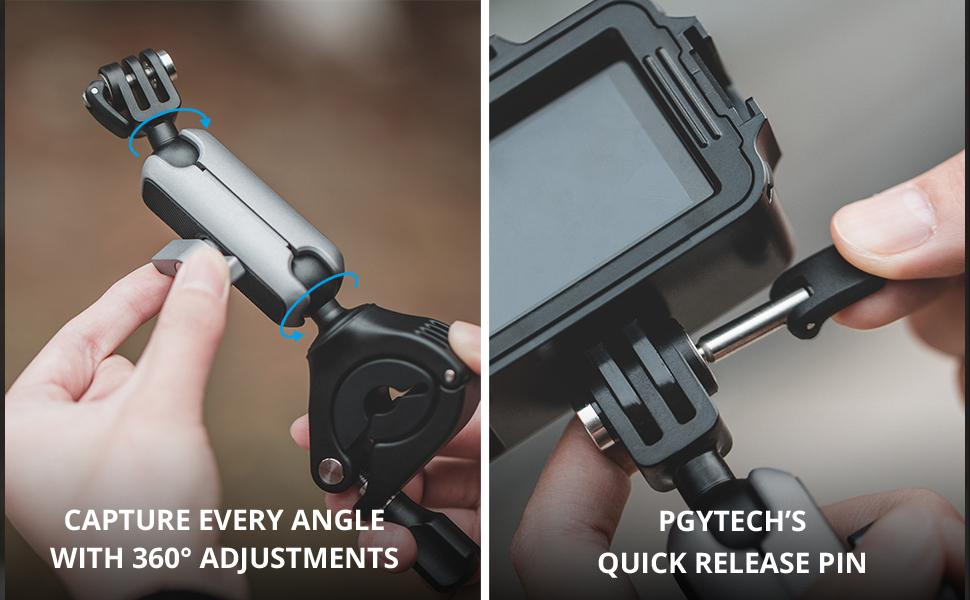 Capture every angle with 360° adjustments