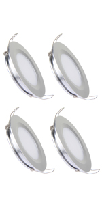 silver finish 3w recessed mount LED puck light