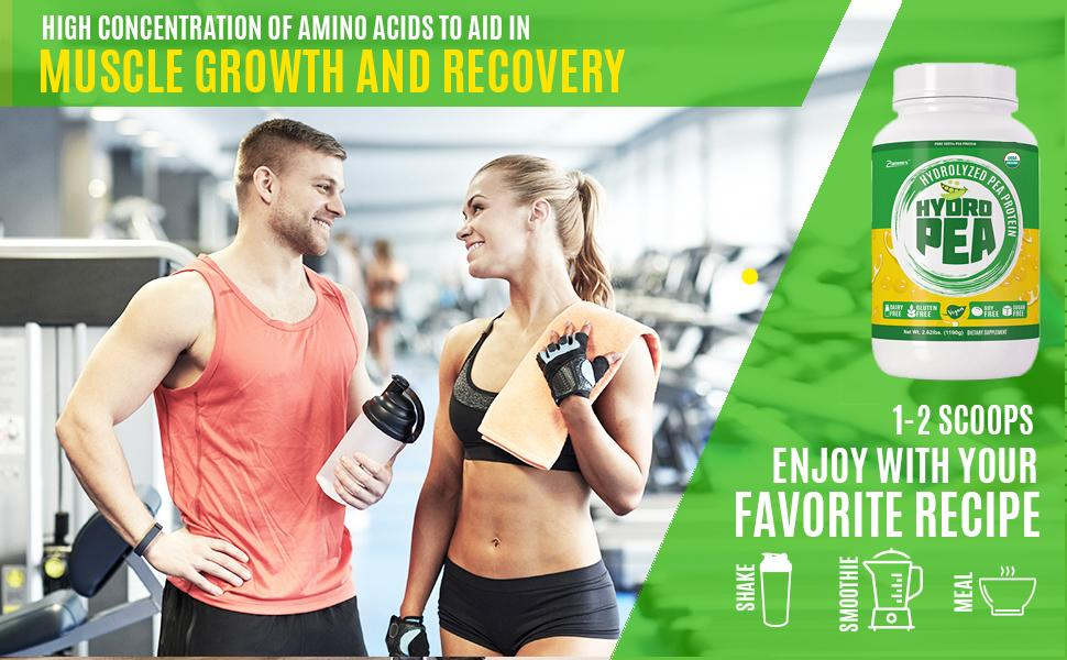 pea protein powder with high concentration of amino acids