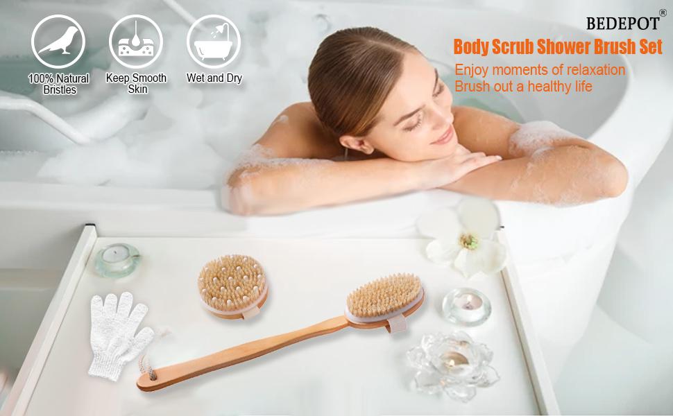 Dry Brushing Body Shower Brush