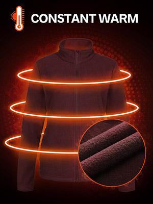 womens fleece jacket full zip