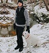 Aleader mens snow boots