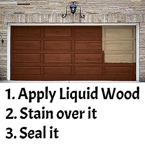 Paint it, stain it, seal it, garage door