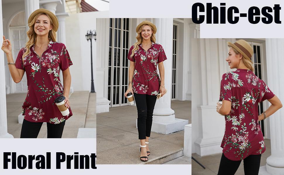 summer tops short sleeve womens blouses