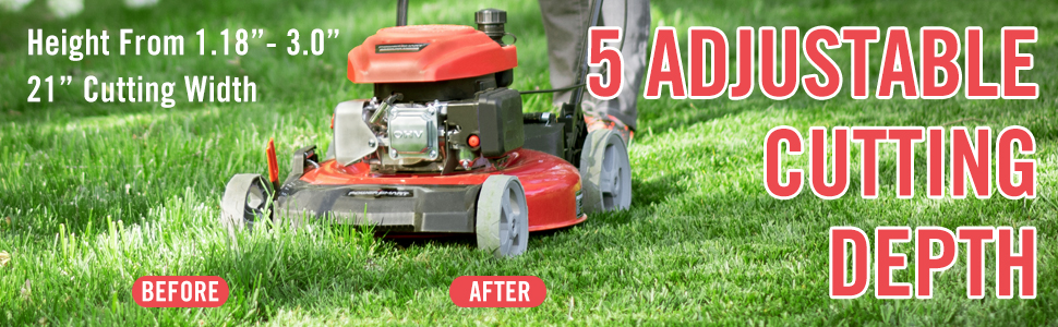 lawn mower hight adjustable