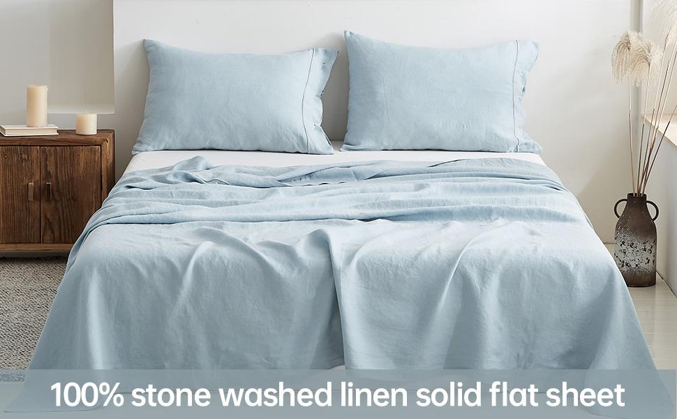 Simpleamp;Opulence 100% Linen Flat Sheet