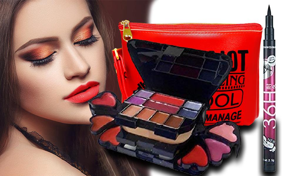 ADS Makeup Kit with Sketch Pen Eyeliner (Black)