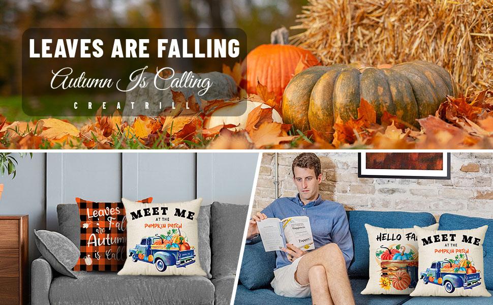 autumn pillow covers 18x18