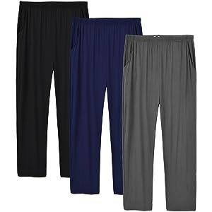 men lounge pants pyjama bottoms 3 pack