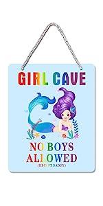 girl cave sign,mermaid