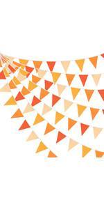 Triangle Flag Fabric Banner Cotton Pennant Garland Cloth Bunting for Fall Decor Autumn Wedding