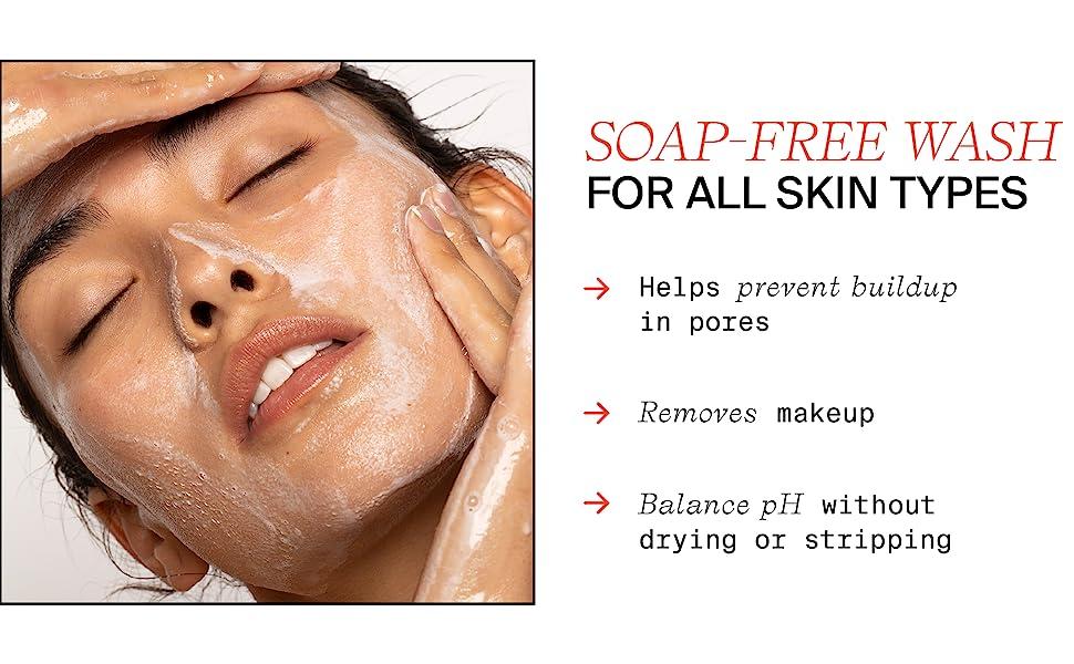 Ph uravnoteženo sredstvo za čišćenje, bez sapuna za sve tipove kože, masnu mješovitu kožu, sredstvo za uklanjanje šminke
