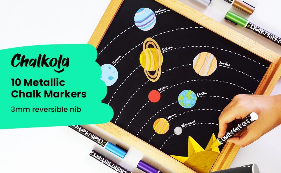 liquid chalk pens coloured chalk pens blackboard chalk pen blackboard paint Chalkola Chalk markers