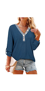 button tunic tops for women
