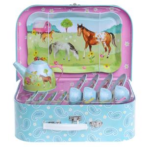 horse tea set for little girls jewelkeeper